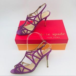 Kate Spade New York Lilac Suede Women's Sandals